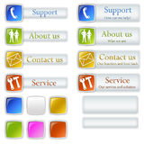Some web buttons Royalty Free Stock Photos