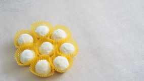 Some white cakes (indonesian puteri salju). White cakes (indonesian puteri salju stock photography