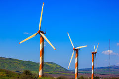 Some windmills Royalty Free Stock Images