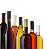 Some wine bottles Stock Photography