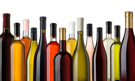Some wine bottles Stock Images