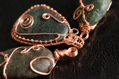 Some wire wrapped pendants Stock Photos