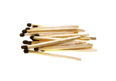 Some wooden matches. Isolated on a white background Royalty Free Stock Photography
