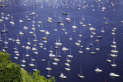 Some Yachts in Rio de Janeiro, Brazil.  Royalty Free Stock Photo
