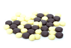 Some yellow and brown tablets Royalty Free Stock Image
