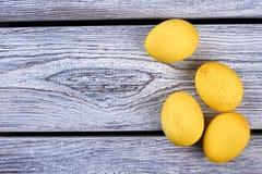 Some yellow eggs. Royalty Free Stock Photos