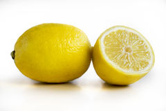 Some yellow  fresh lemons Royalty Free Stock Image