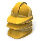 Some Yellow Helmets Stock Photo