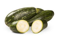 Some zucchinis over a white background. Some zucchinis over a white white background. Fresh vegetable Royalty Free Stock Images