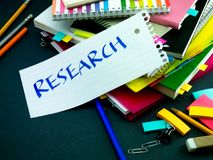 Somebody Left the Message on Your Working Desk; Research.  Stock Image