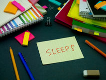 Somebody Left the Message on Your Working Desk; Sleep Royalty Free Stock Image