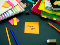 Somebody Left the Message on Your Working Desk; Thank You. (Office Stock Images