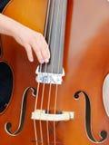 Somebody playing cello Stock Photos
