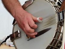 Somebody playing instrument. Somebody is playing an instrument Royalty Free Stock Photo