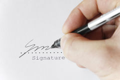 Free Somebody Signing Royalty Free Stock Photography - 5137617