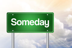 Someday Green Road Sign, business Royalty Free Stock Photography