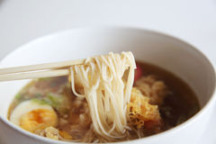 Somen, fine wheat noodles. In close up Stock Image