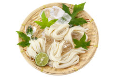 Somen - Japanese style thin wheat noodles - Stock Images