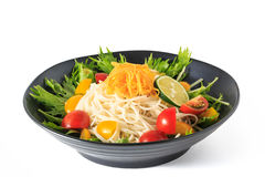 Somen - Japanese style thin wheat noodles Royalty Free Stock Image