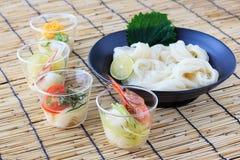 Somen, Japanese thin wheat noodles Stock Photo