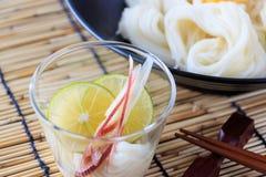 Somen, Japanese thin wheat noodles Royalty Free Stock Photo