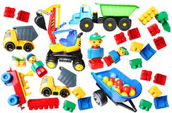 Somente fundo plástico dos brinquedos Fotos de Stock Royalty Free