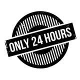 Somente 24 horas de carimbo de borracha Fotografia de Stock