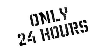 Somente 24 horas de carimbo de borracha Fotografia de Stock Royalty Free