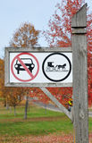 Somente sinais puxados por cavalos dos veículos Imagens de Stock
