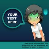 Someone is bored and bubble speech. vector illustration
