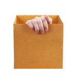 Someone comes out of a box Royalty Free Stock Photo