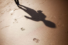 Someone Follow Me. Shadow of a man chasing me stock photos