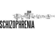 When Someone Has Schizophrenia Word Cloud Stock Image