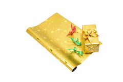 For someone. Image of wrapping paper, bow, ribbon and box that warped before sent to someone that special Royalty Free Stock Image
