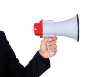 Someone with a Megaphone for proclaiming something Stock Photography