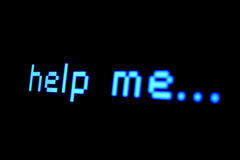 Someone, please... Text on a computer screen Royalty Free Stock Photography