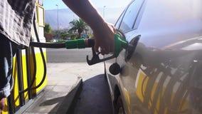 Someone refueling samochód zbiory