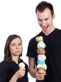 Someone's feeling shorted on ice cream Stock Image