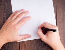 Someone signing contract Royalty Free Stock Image