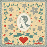 For someone very special card  illustration Royalty Free Stock Photo