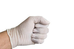 Someone wearing medical gloves holding syringe. At thailand Stock Image