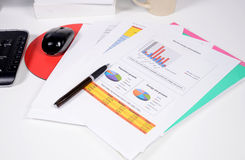 Report on desk Royalty Free Stock Photography