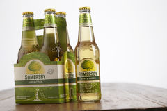 Somerby cider. Kuala Lumpur Malaysia 2nd December 2016, Somersby cider is a brand of 4.5% abv cider by Danish brewing company Carlsberg Group. Developed in 2008 stock images