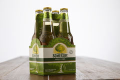 Somerby cider. Kuala Lumpur Malaysia 2nd December 2016, Somersby cider is a brand of 4.5% abv cider by Danish brewing company Carlsberg Group. Developed in 2008 royalty free stock photo