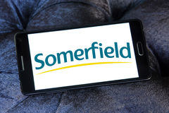 Somerfield store logo. Somerfield chain stores logo and vector on samsung mobile phone a5 Royalty Free Stock Image
