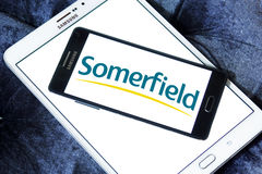 Somerfield store logo. Somerfield chain stores logo and vector on samsung mobile phone a5 Stock Images