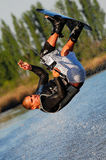 Somersault on a Wakeboard. Somersault Maneuver on a Wakeboard stock image