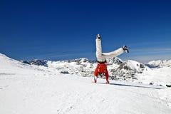 Somersaults nas montanhas Imagem de Stock Royalty Free
