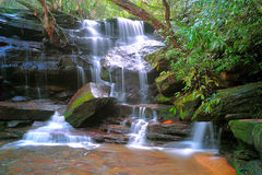 Somersby cai, cachoeira australiana, Novo Gales do Sul, Austrália Imagem de Stock Royalty Free