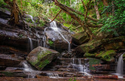 Somersby Falls down stream -NSW, Australia. Another one of a series of waterfalls along Floods Creek in Brisbane Water National Park, near Gosford and very close Royalty Free Stock Photography